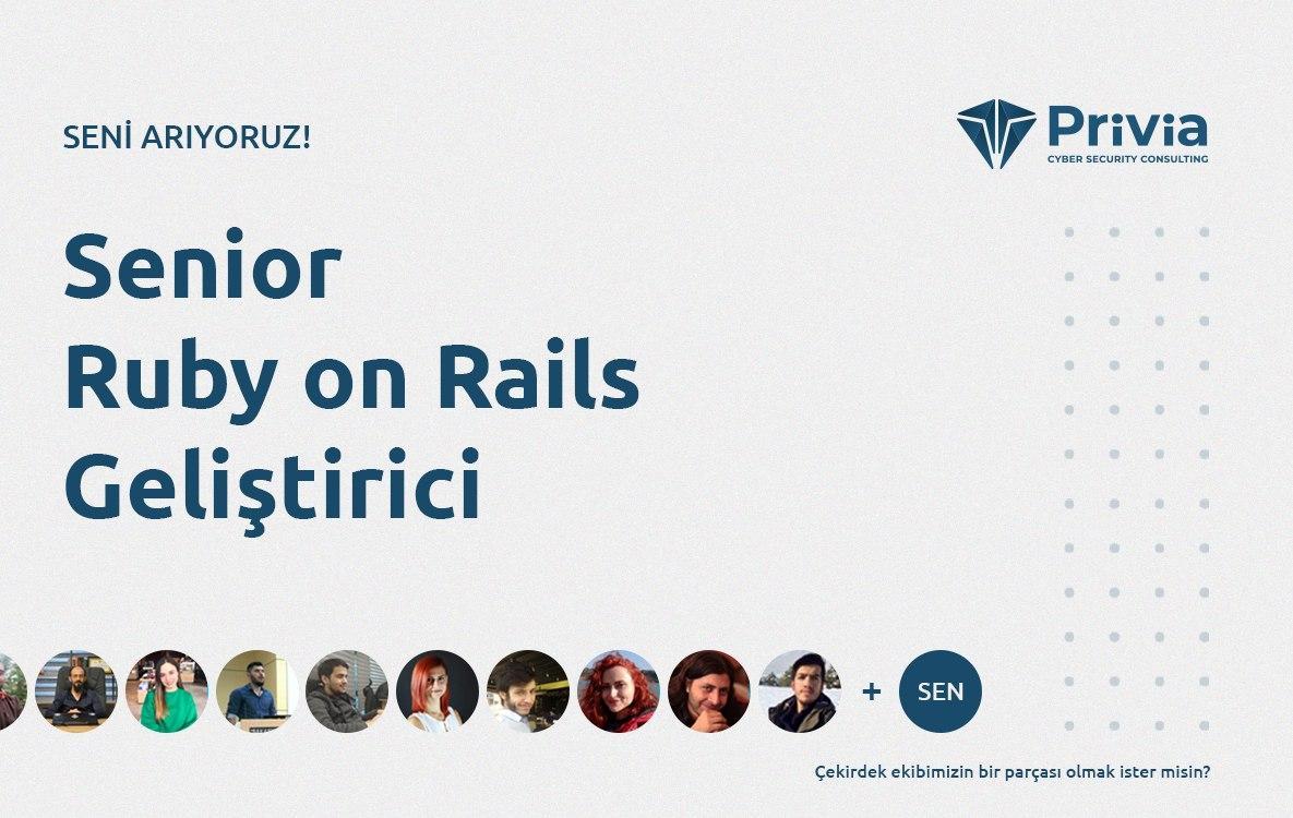 İş İlanı Kıdemli Ruby Geliştiricisi