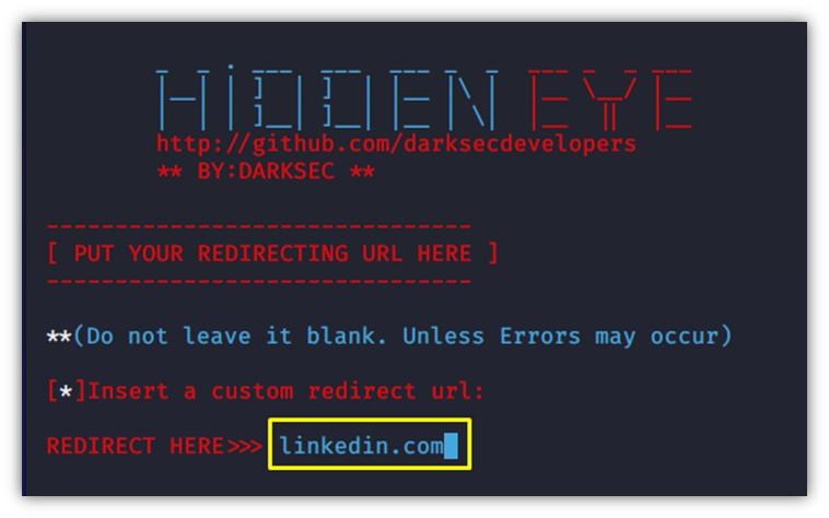 HiddenEye kullanıcı yönlendirme özelliği