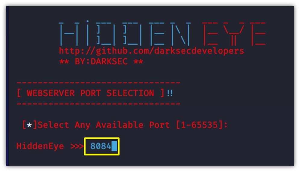 Web Sunucunun port numarasının belirlenmesi